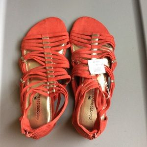 Montego Bay burnt orange gladiator sandals